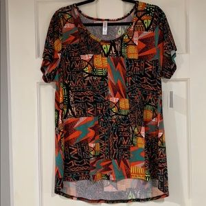 LuLaRoe multi-colored Classic T shirt